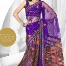 Partywear Net Designer Lehenga Emrbrodered With Sari Blouse - TS 30009 N