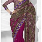 Partywear Brasso Embroidered Sari With Unstitch Blouse - TS 30021 N