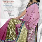 Partywear Faux Georgette Embroidered Sari With Unstitch Blouse - TS 30001b N