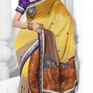 Partywear Faux Georgette Embroidered Sari With Unstitch Blouse - TS 30013a N