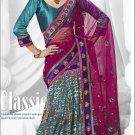 Partywear Net Designer Lehenga Emrbrodered Sari With Blouse - TS 30018 N