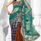 Partywear Brasso Embroidered Sari With Unstitch Blouse - TS 30006 N