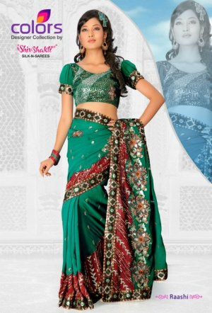 Bollywood Designer Sari Wedding Embroidered Saree - Ls Raashi_b