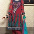 Georgette & Chiffon Partywear Embroidered Shalwar & Salwar Kameez - X 3439 N
