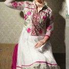 Net & Chiffon Partywear Embroidered Shalwar & Salwar Kameez - X 3422 N