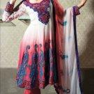 Jacquard & Chiffon Partywear Embroidered Shalwar & Salwar Kameez - X 3421 N