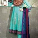 Georgette & Chiffon Partywear Embroidered Shalwar & Salwar Kameez - X 3442 N