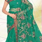 Partywear Net Embroidered Saree With Blouse - LS 101a N