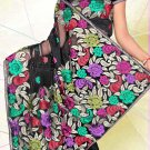 Partywear Net Embroidered Saree With Blouse - LS 1010 N