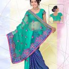 Partywear Faux Georgette Embroidered Saree With Blouse - LS 2827 N