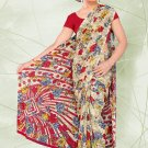 Partywear Sofia Embroidered Saree With Blouse - LS 8419 N