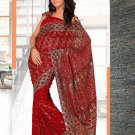 Partywear Faux Georgette Embroidered Saree With Blouse - LS Bidai N