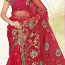 Partywear Net Embroidered Saree With Blouse - LS 101b N