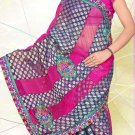Partywear Faux Georgette Embroidered Saree With Blouse - LS 2758b N