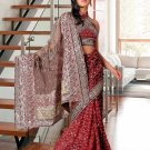 Partywear Faux Georgette Embroidered Saree With Blouse - LS Prebna N