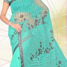 Partywear Net Embroidered Saree With Blouse - LS 104 N