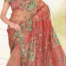 Partywear Net Embroidered Saree With Blouse - LS 102a N