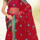 Partywear Faux Georgette Embroidered Saree With Blouse - LS 2809b N