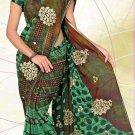 Partywear Faux Georgette Embroidered Saree With Blouse - LS 2779 N