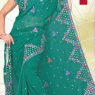 Partywear Faux Georgette Embroidered Saree With Blouse - LS 1044 N