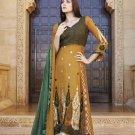 Georgette Partywear Embroidered Shalwar & Salwar Kameez With Dupatta - X 7195B N