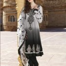 Viscose Partywear Embroidered Shalwar & Salwar Kameez With Dupatta - X 7193A N