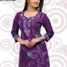 Indian Bollywood Cambric Cotton Partywear Embroidered Kurti Kurta Tops - X 114b