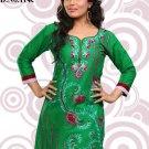 Indian Bollywood Cambric Cotton Partywear Embroidered Kurti Kurta Tops - X 114c