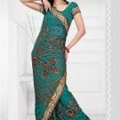Wedding Faux Georgette Designer Embroidered Saris Saree With Blouse - TS 24005 N