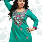 Indian Bollywood Cambric Cotton Partywear Embroidered Kurti Kurta Tops - X 112c