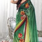 Faux Georgette Wedding Embroidered Bollywood Sarees Sari With Blouse - VF 452 N