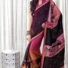 Faux Georgette Wedding Embroidered Bollywood Sarees Sari With Blouse - VF 463 N