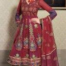 Net & Chiffon Partywear Embroidered Shalwar & Salwar Kameez - X 3402 N