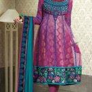 Net & Chiffon Partywear Embroidered Shalwar & Salwar Kameez - X 3413 N
