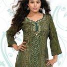 Indian Bollywood Faux Crepe Partywear Kurti Kurta Tops - X 43