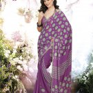 Crepe Casual Partywear Printed Saree Sari With Unstitch Blouse - VF 4810b N