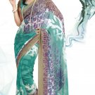 Sari Saree Faux Georgette Casual Printed With Unstitch Blouse - VF 4906a N