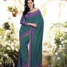 Crepe Casual Partywear Printed Saree Sari With Unstitch Blouse - VF 4811a N