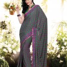 Crepe Casual Partywear Printed Saree Sari With Unstitch Blouse - VF 4807b N