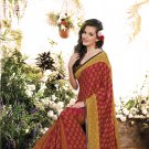 Crepe Casual Partywear Printed Saree Sari With Unstitch Blouse - VF 4811b N