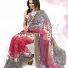 Sari Saree Faux Georgette Casual Printed With Unstitch Blouse - VF 4906b N