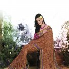 Crepe Casual Partywear Printed Saree Sari With Unstitch Blouse - VF 4802b N