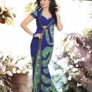 Crepe Casual Partywear Printed Saree Sari With Unstitch Blouse - VF 4804b N