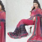 Faux Georgette Bridal Wedding Designer Embroidered Saree with Blouse - X 1513 N