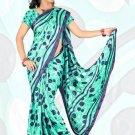 Sari Saree Jacquard Crepe Printed Designer Sarees With Blouse - X 2302d N
