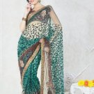 Net Bridal Wedding Designer Embroidered Saree with Blouse - X 1502 N