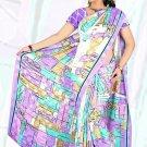 Sari Saree Jacquard Crepe Printed Designer Sarees With Blouse - X 2097d N