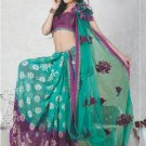 Faux Georgette Bridal Wedding Designer Embroidered Saree with Blouse - X 1510 N