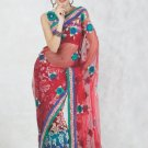 Faux Georgette Bridal Wedding Designer Embroidered Saree with Blouse - X 1518 N