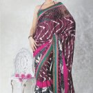 Faux Georgette Bridal Wedding Designer Embroidered Saree with Blouse - X 1508 N